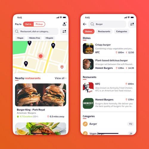 PayToEat iOS App Design