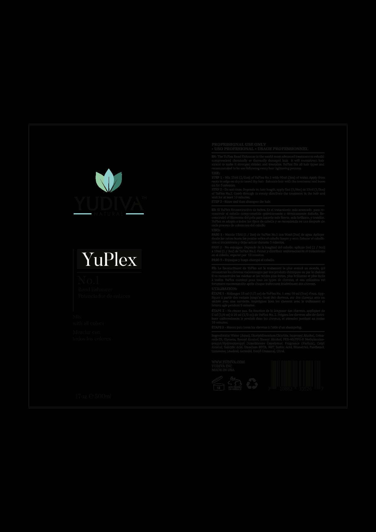 one YuPlex label design