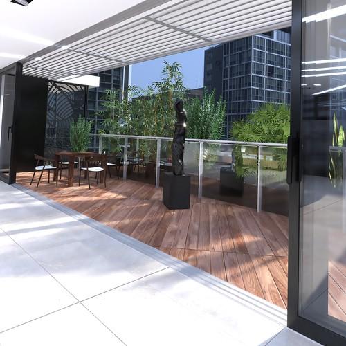 Interior design. Terrace
