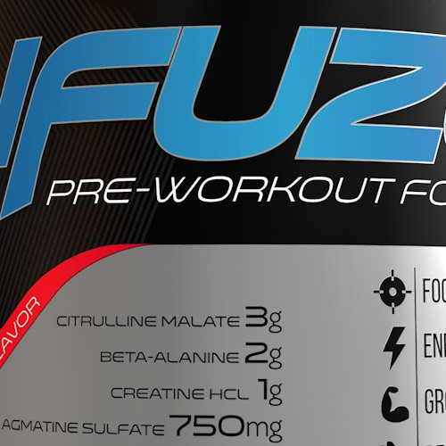 Pre Workout Label for Sportrition