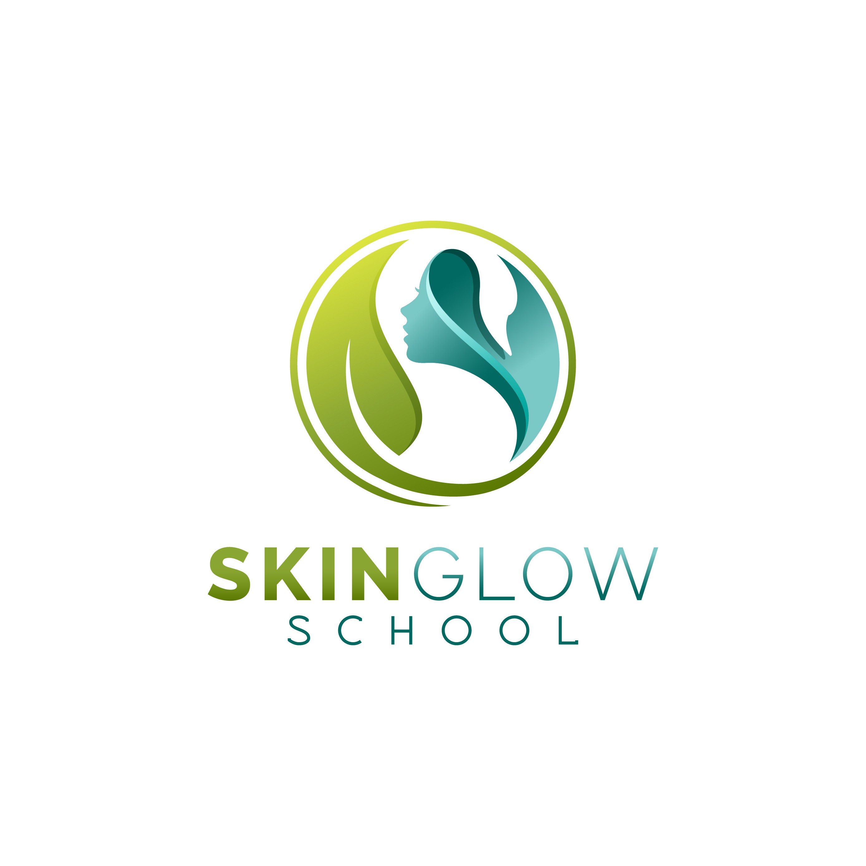 """""""SGS with a swan"""" for an online school for natural skin care (Skin Glow School)"""
