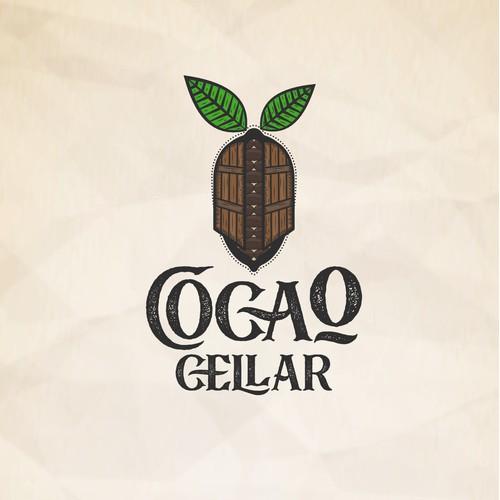 Chocolate cocoa logo