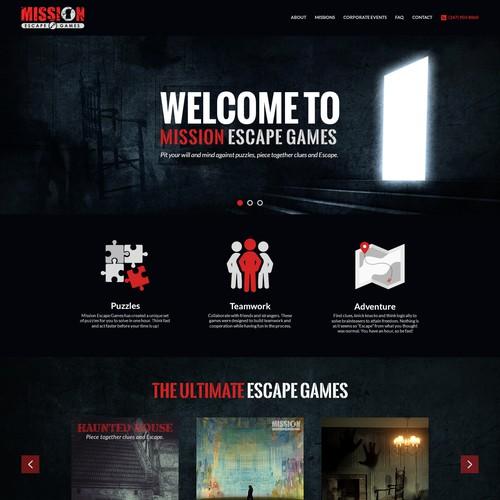 Mission Escape Games website design