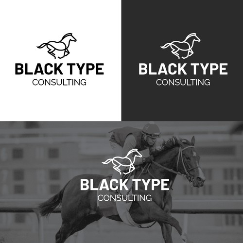 Horse logo for race consulting