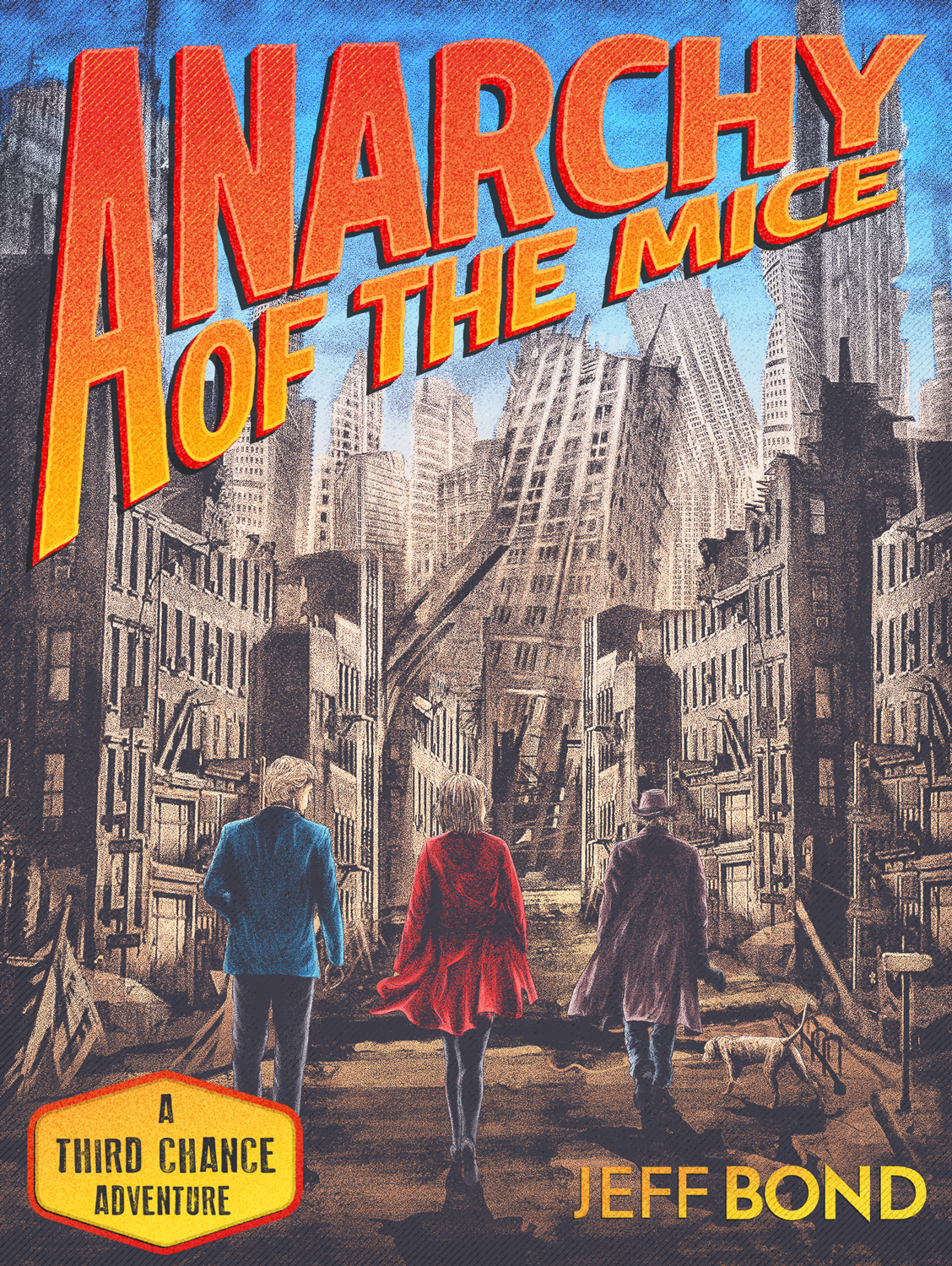 Pulp-style throwback cover for action-adventure novel