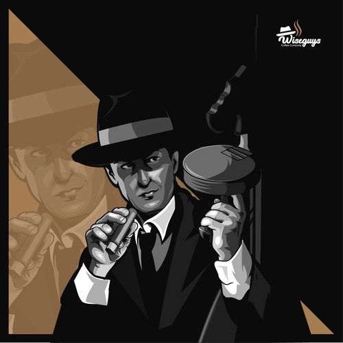 Gangster Illustration | Coffee label