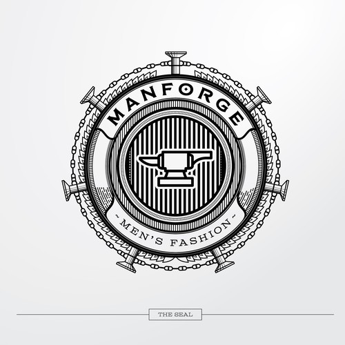A bold logo for men's fashion company