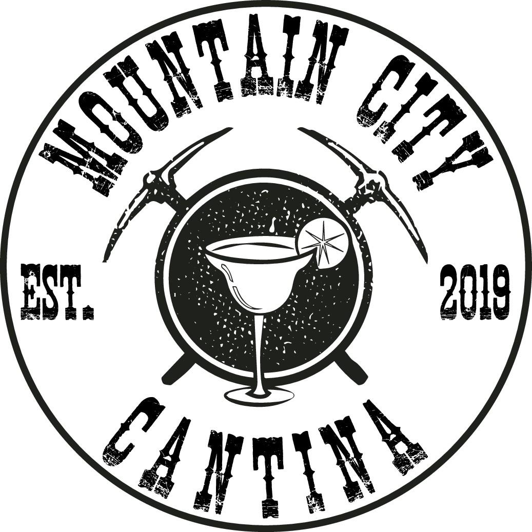 Create a concept logo for a Rocky Mountain Mining Town Mex Restaurant