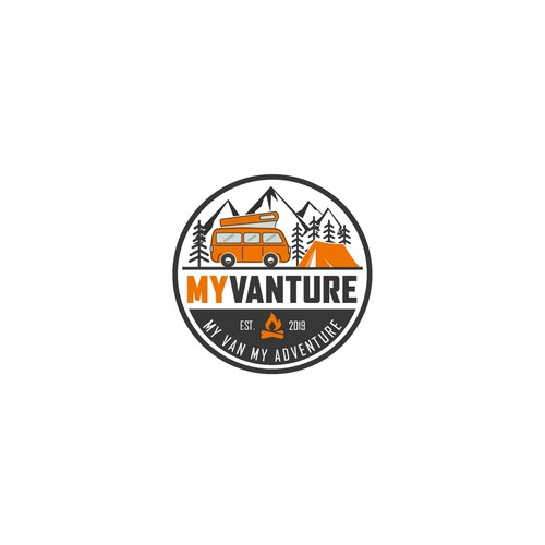 An adventurous lifestyle logo for MyVanture