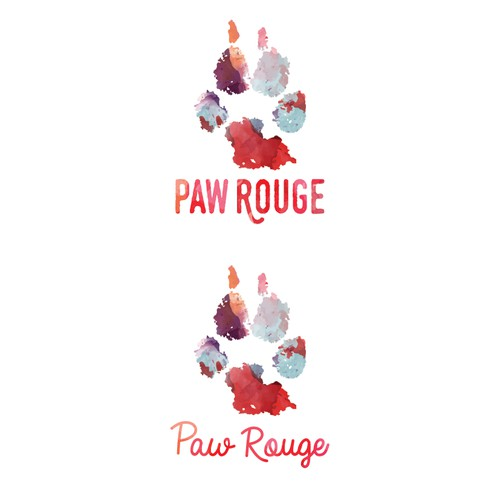 logo for the in-home pet sitting service Paw Rouge