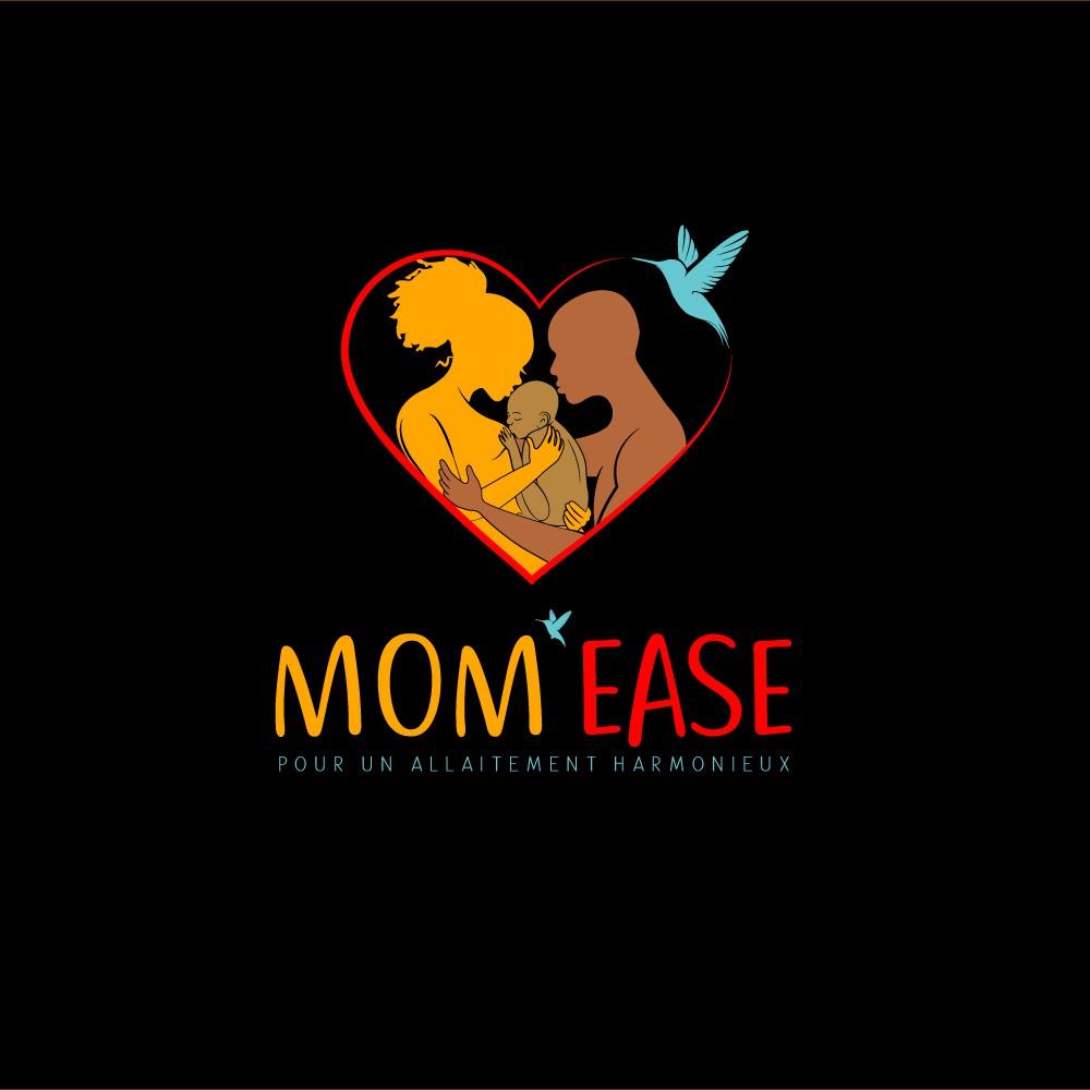 """Logo """"M.O.M'E.A.S.E - Pour un allaitement harmonieux"""""""