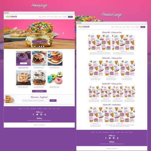 Donuts website redesign