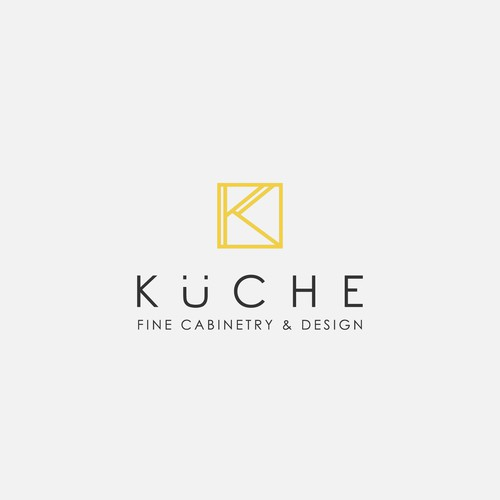 Creative logo concept for Kuche | Fine Cabinetry & Design