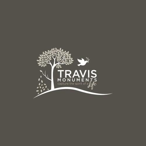 Travis Monuments Custom Logo Design