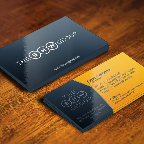 New business card for web and mobile app company