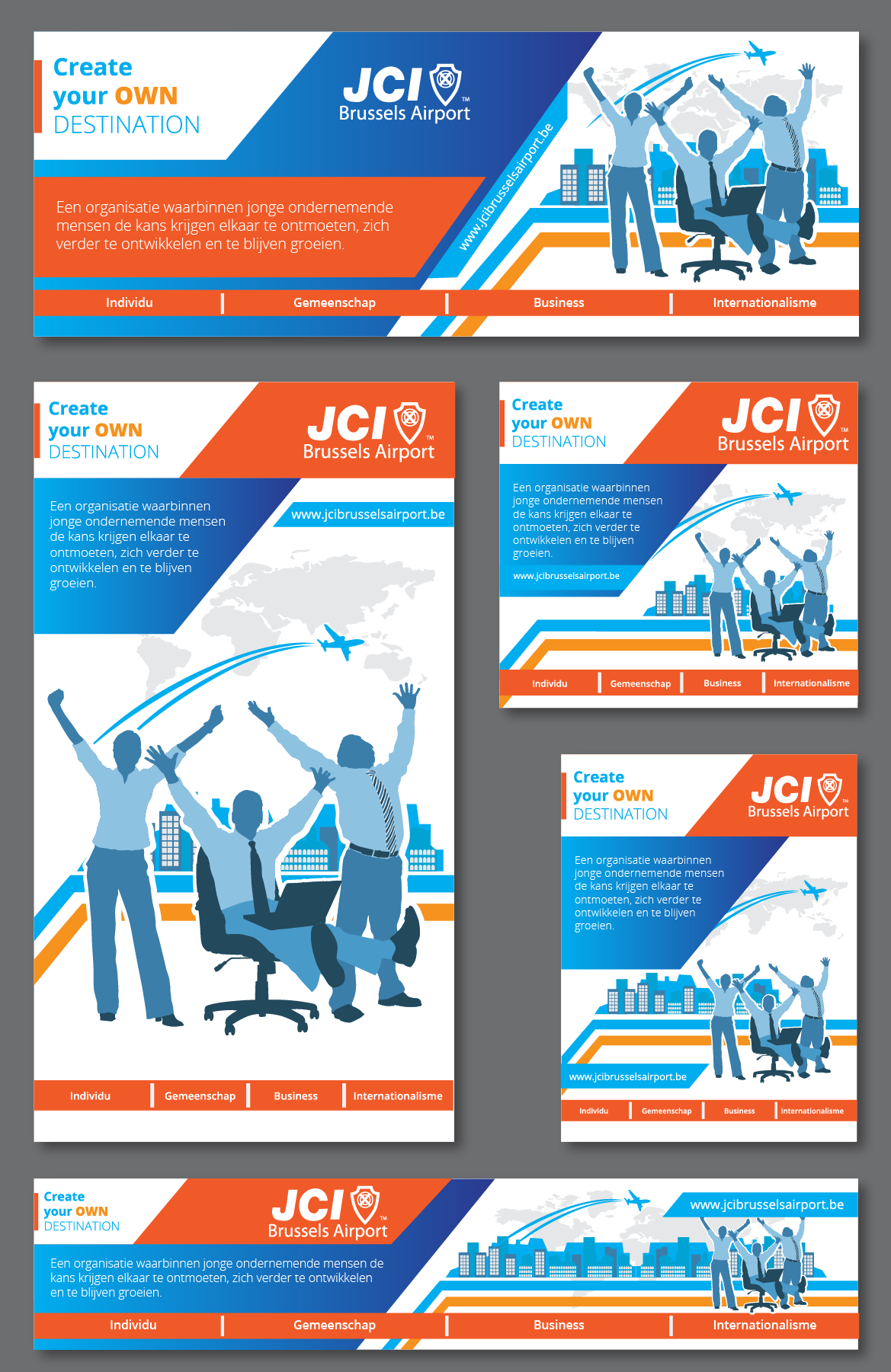 Create the next illustration or graphics for JCI Brussels Airport
