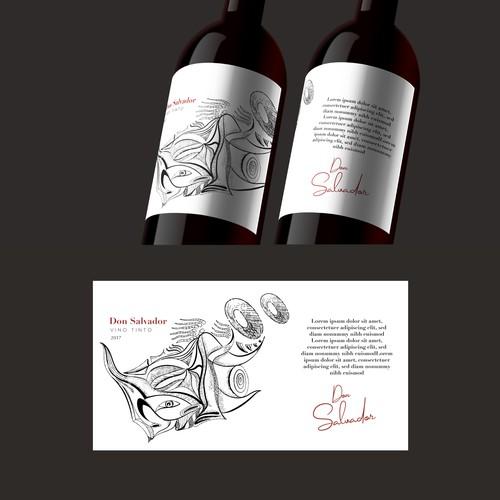 Don Salvador - wine label