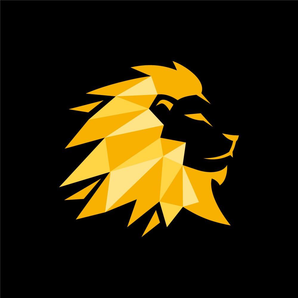 Geometric Royal Lion