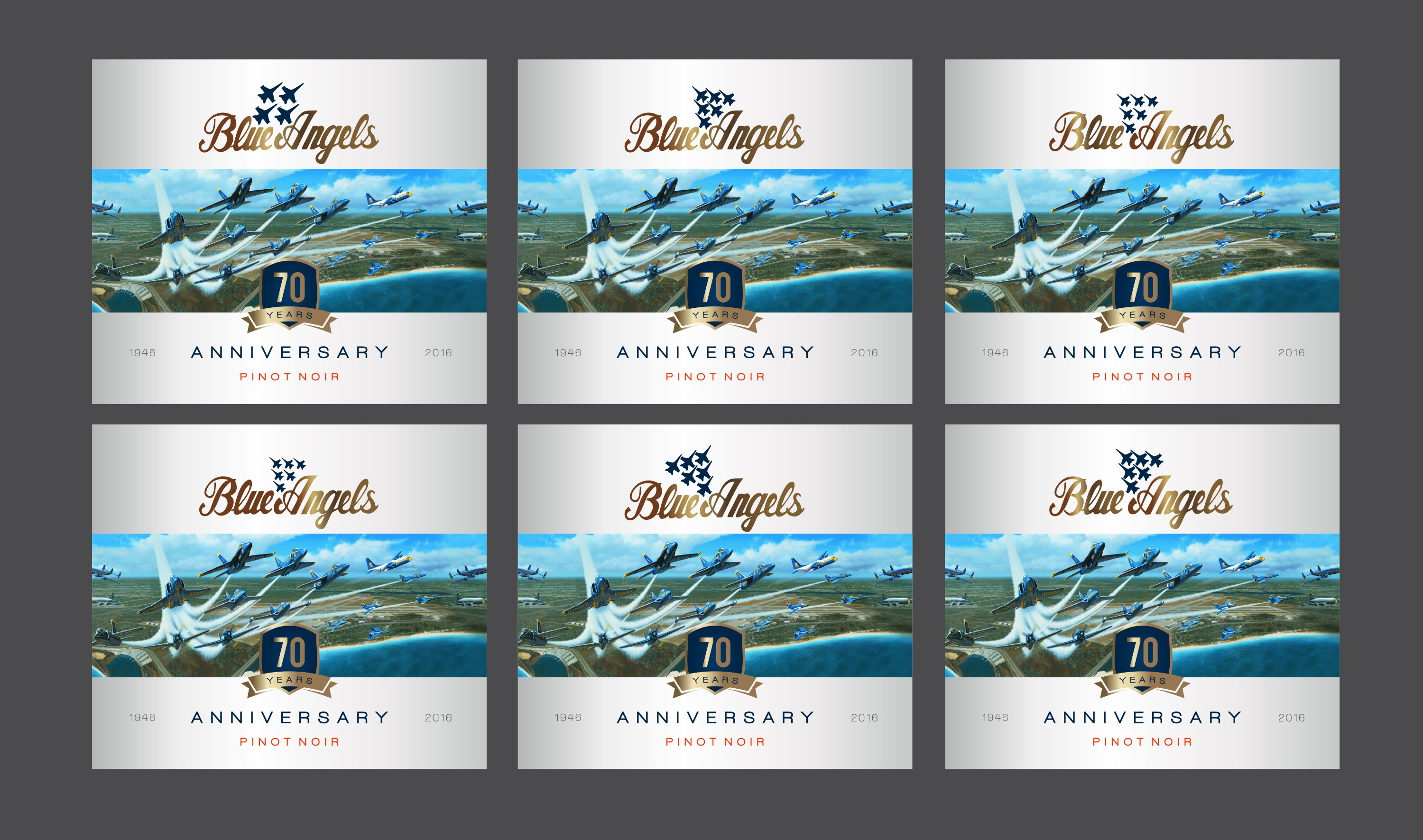 Create a wine label to celebrate the Blue Angels' 70th anniversary!