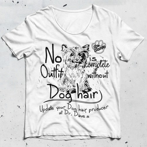T-shirt design for Dog Salon