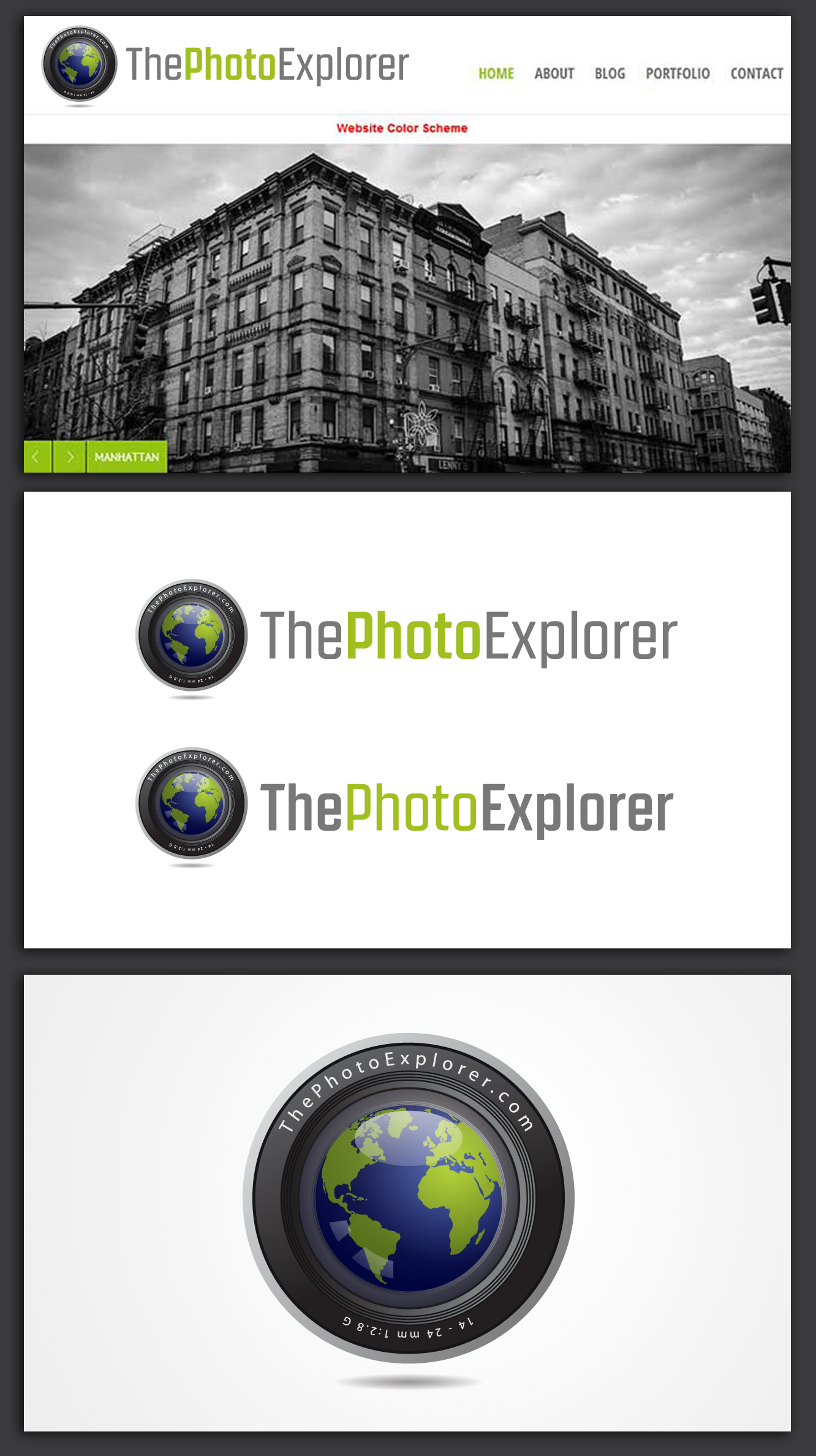 Create the next logo for ThePhotoExplorer