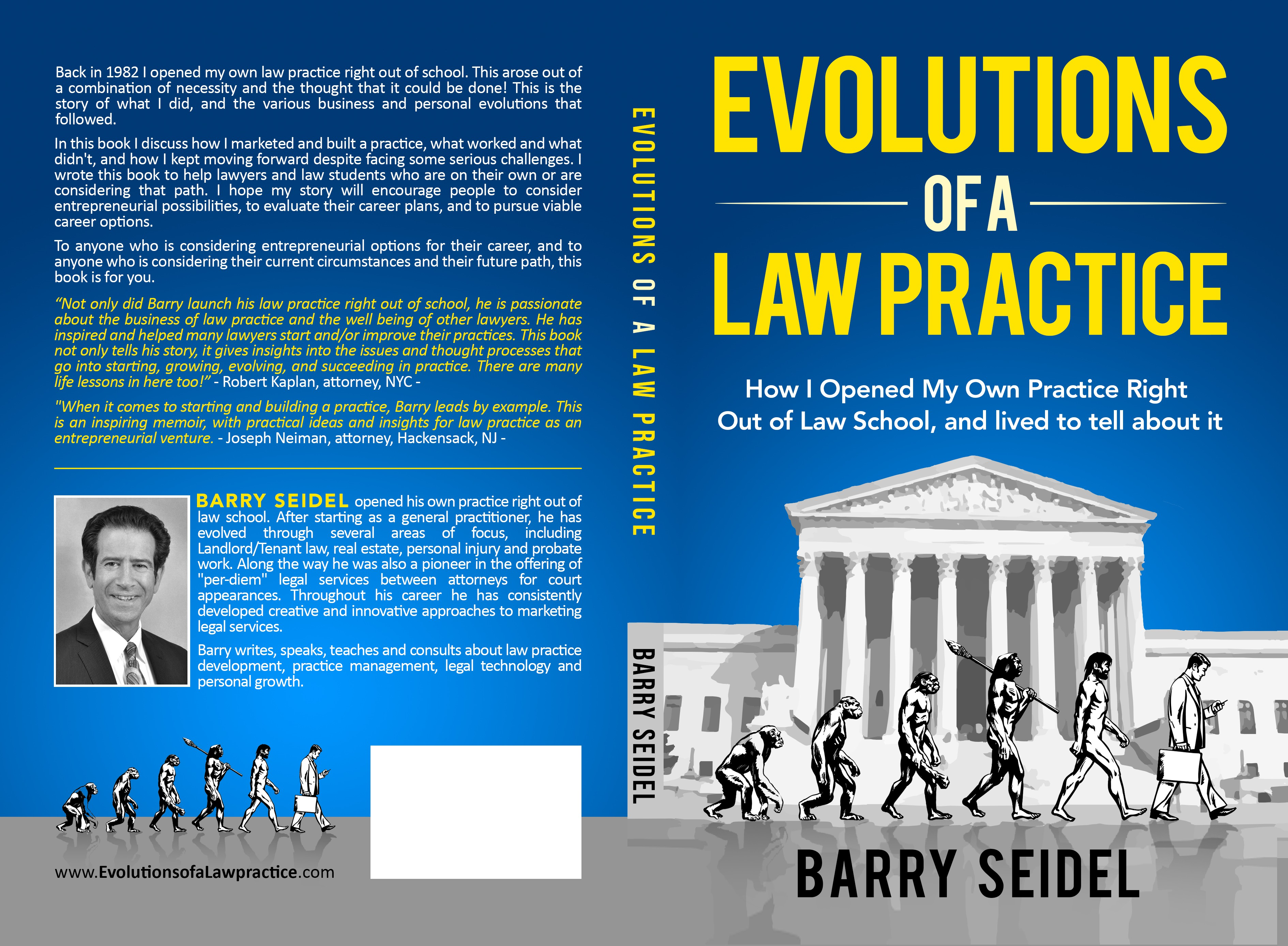 "Final adjustments to ""Evolutions of a Law Practice"" cover"