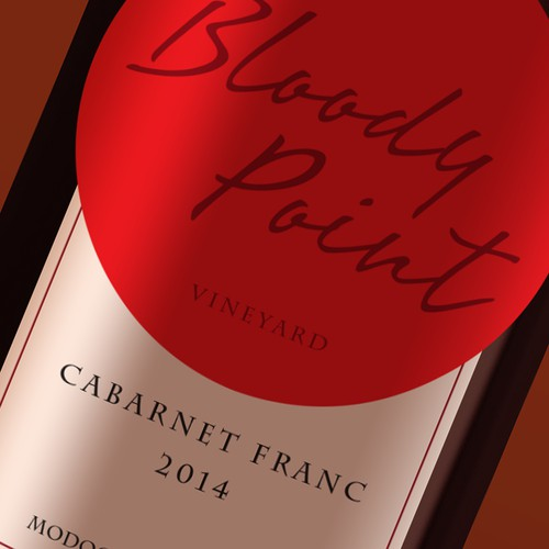Create a classy wine label exemplifing the west