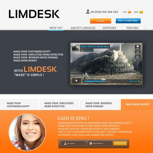 Help Limdesk with a new landing page