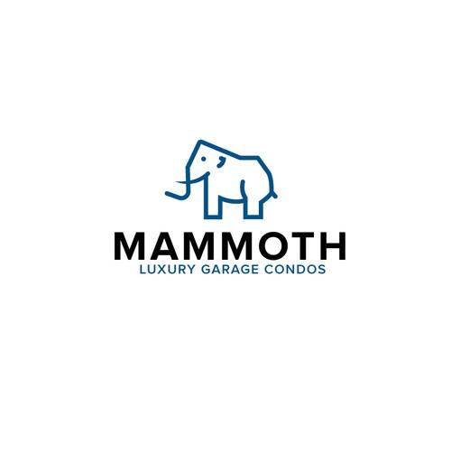 Line-art Mammoth Logo