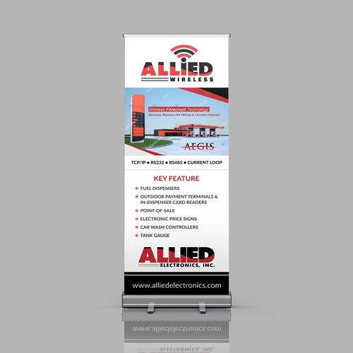 Allied Roll Up Banner