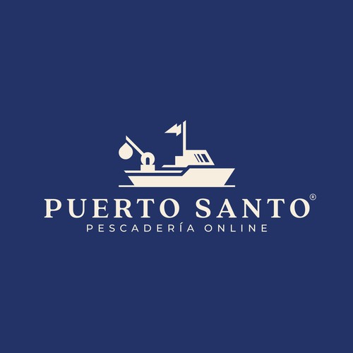 fishing boat logo for Puerto Santo