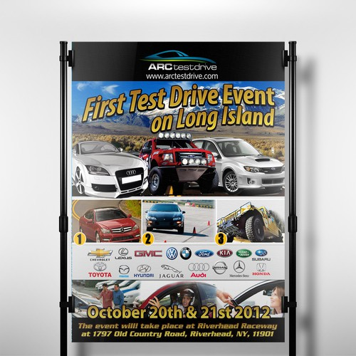 postcard or flyer for ARC Test Drive