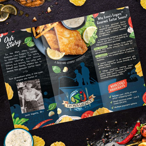 Trifold brochure for Tartar sauce