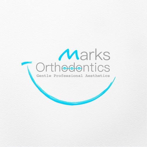 "logo concept for ""Marks ortodontics"""