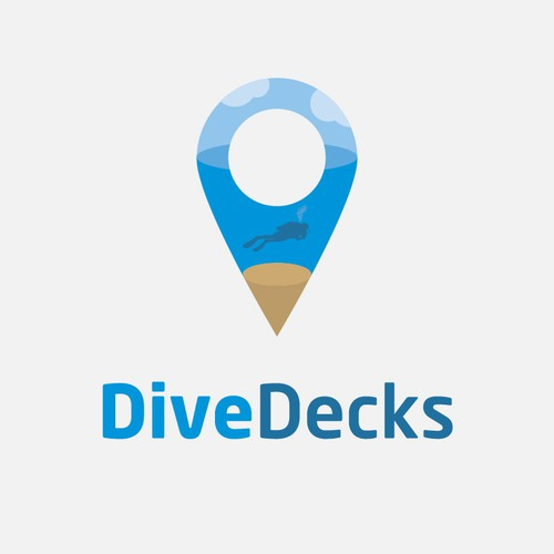Design a logo for DiveDecks - where you'll find your next dive trip!