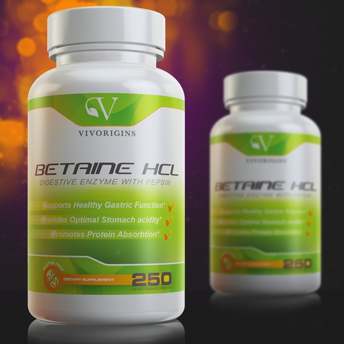 Supplement Label Design  & 3D Rendering