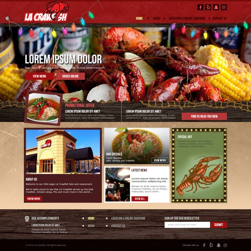 Website design for a Restuarant