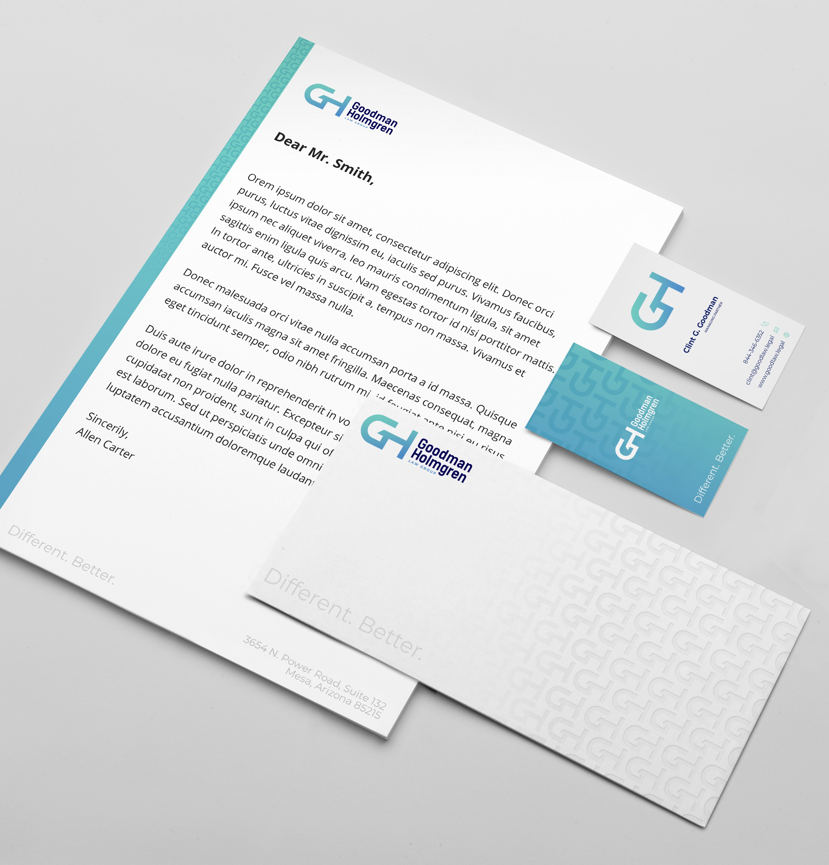 Logo / Biz Package for Tech Savvy, Refreshing Law Firm