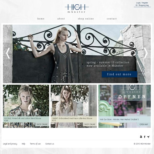 Fashion website design needed