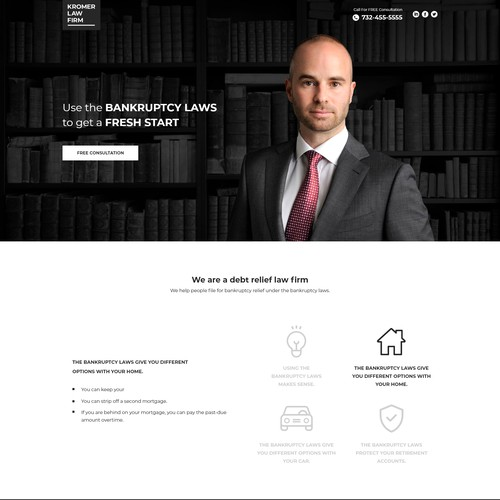 Attorney & Law Landing page