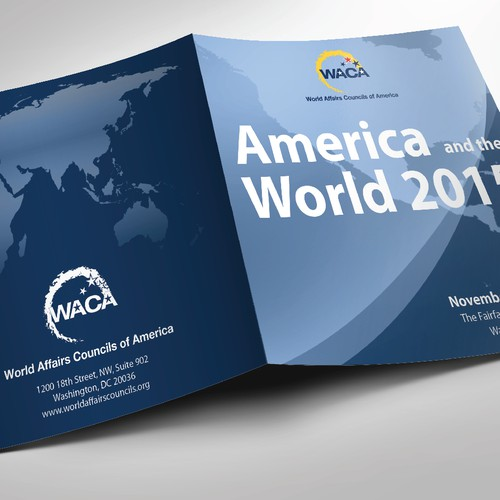 Program booklet cover for global affairs conference in Washington, DC