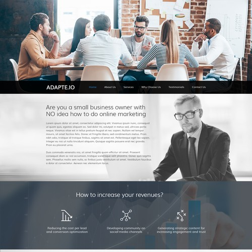 Home Page Design Concept For Adapte