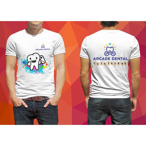T-shirt design for Arcade Dental