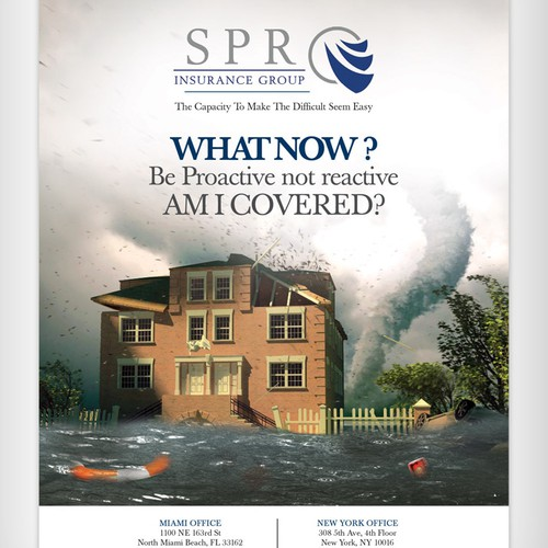 Full Page Magazine Ad for Insurance Brokerage