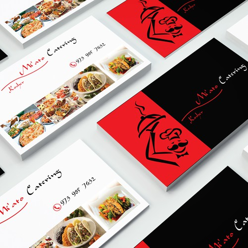Business card for Mi'a to Catering