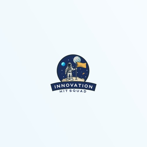 unused logo for innovation hit squad,.