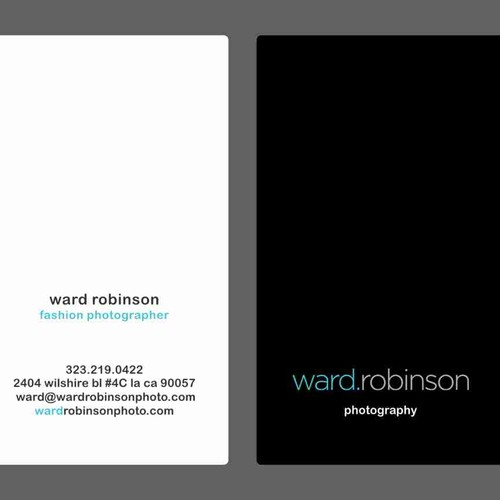 photographer business card, clean and modern