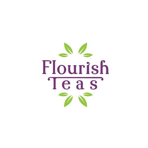 Logo Concept for Flourish Teas.