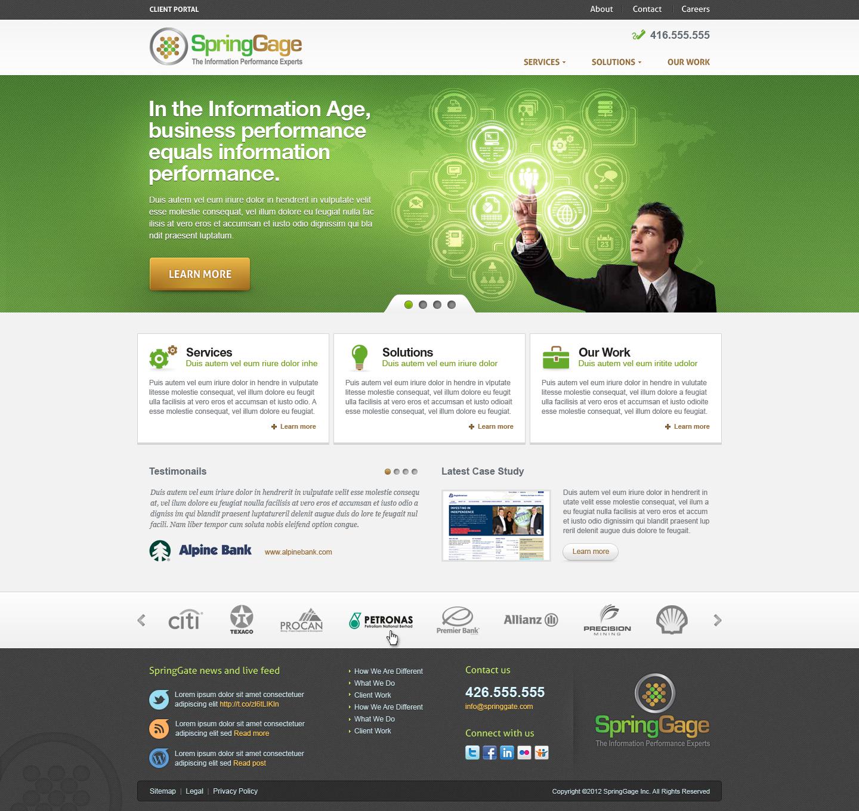 SpringGage needs a new website design