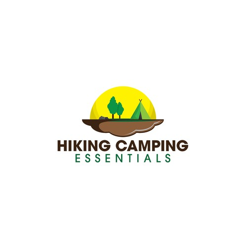 Get outdoors with a logo to capture the fun of hiking and camping